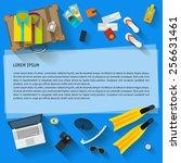bright illustration in trendy... | Shutterstock .eps vector #256631461