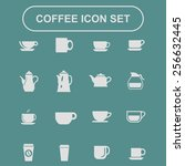 coffee icon set | Shutterstock .eps vector #256632445