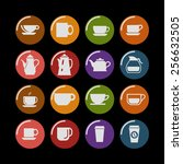 coffee icon set | Shutterstock .eps vector #256632505
