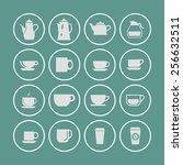 coffee icon set | Shutterstock .eps vector #256632511