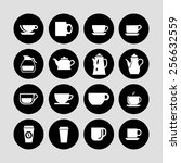 coffee icon set | Shutterstock .eps vector #256632559