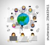 vector iilyustratsiya call... | Shutterstock .eps vector #256633411