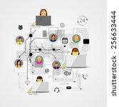 vector iilyustratsiya call... | Shutterstock .eps vector #256633444