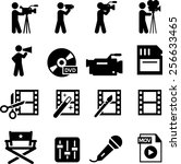 movie and film production icon... | Shutterstock .eps vector #256633465