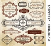 vector vintage collection ... | Shutterstock .eps vector #256633801