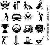 golf icons | Shutterstock .eps vector #256637944