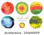 abstract circle acrylic and
