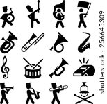 Marching Band Icons. Vector...