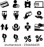 money  credit  finance and... | Shutterstock .eps vector #256646635