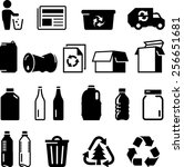 recycling icons including paper ...   Shutterstock .eps vector #256651681