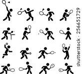 tennis  racquetball  squash ... | Shutterstock .eps vector #256651729