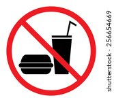 food and drink prohibition sign | Shutterstock .eps vector #256654669