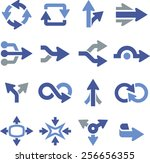 arrows and directional pointers.... | Shutterstock .eps vector #256656355