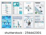 collection abstract business... | Shutterstock .eps vector #256662301