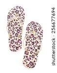 flip flop fashion plastic shoes ... | Shutterstock . vector #256677694