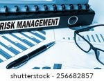 risk management label on... | Shutterstock . vector #256682857
