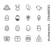 easter icons | Shutterstock .eps vector #256688581