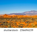 Red Rock Formations In Valley...