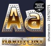 vector set of bold luxury font... | Shutterstock .eps vector #256702771