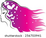beauty with hair icon | Shutterstock .eps vector #256703941