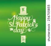 saint patrick's day lettering... | Shutterstock .eps vector #256705855