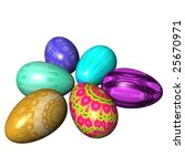 easter eggs composition... | Shutterstock . vector #25670971
