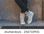 milan  italy   february 26 ... | Shutterstock . vector #256710931