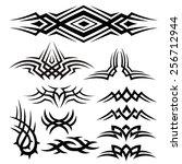 tribal pattern armband tattoos | Shutterstock .eps vector #256712944