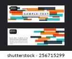 abstract banner design template ... | Shutterstock .eps vector #256715299
