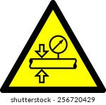 warning high pressure | Shutterstock .eps vector #256720429