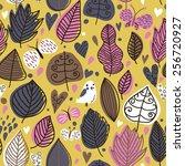 summer floral seamless pattern... | Shutterstock .eps vector #256720927