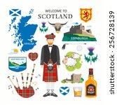 welcome to scotland travel... | Shutterstock .eps vector #256728139