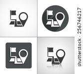navigation  start point  end... | Shutterstock .eps vector #256746217