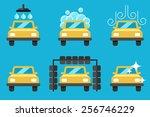 vector set of car washing... | Shutterstock .eps vector #256746229