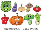 different types of vegetables | Shutterstock .eps vector #256749025