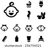 baby icon set | Shutterstock .eps vector #256754521