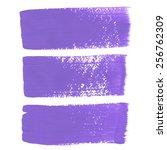 lilac ink vector brush strokes   Shutterstock .eps vector #256762309