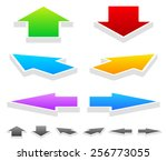 colorful arrows in different... | Shutterstock .eps vector #256773055