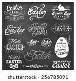 easter typographical design... | Shutterstock .eps vector #256785091