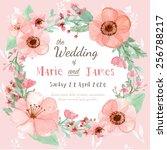 flower wedding invitation card  ... | Shutterstock .eps vector #256788217