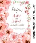 flower wedding invitation card  ... | Shutterstock .eps vector #256788229
