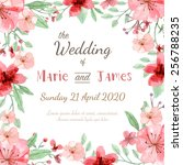 flower wedding invitation card  ... | Shutterstock .eps vector #256788235