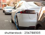 power supply for electric car... | Shutterstock . vector #256788505