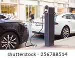 power supply for electric car... | Shutterstock . vector #256788514