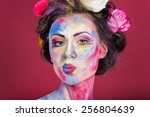 the creative  bright  color... | Shutterstock . vector #256804639