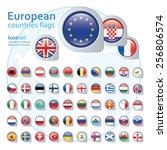 set of european flags  vector... | Shutterstock .eps vector #256806574