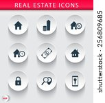 real estate 3d trendy round...
