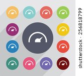 speedometer circle  flat icons... | Shutterstock . vector #256818799