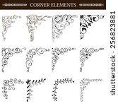 vintage design elements corners ... | Shutterstock .eps vector #256823881
