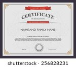 certificate template and... | Shutterstock .eps vector #256828231